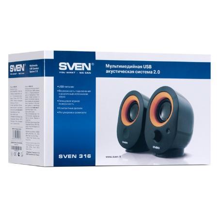 "Speakers SVEN ""316"" Black,..."