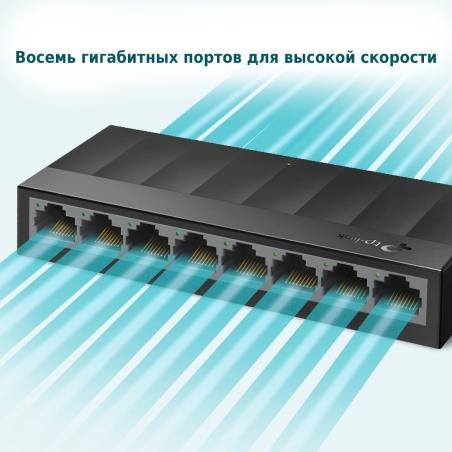 .8-port 10/100/1000Mbps...