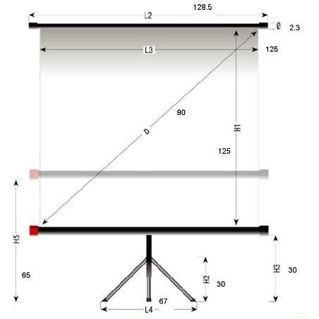 Tripod 125x125cm Reflecta...